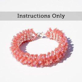 Mini Studio – Embellished Square Stitch Ruffle Bracelet instructions