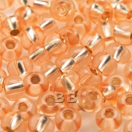 Peach silver lined size 5/0 seed beads- Retail system