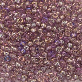 Preciosa 100 Gms Czech glass seed bead 11/0 Light purple transparent rainbow
