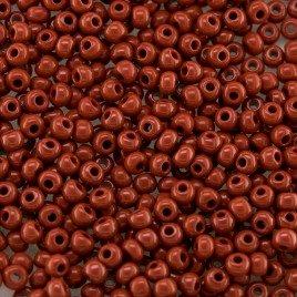 Preciosa 100 Gms Czech glass seed bead 11/0 Red Burnt Brick opaque