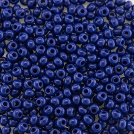 Preciosa 100 Gms Czech glass seed bead 11/0 Spectrum Blue opaque