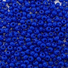 Preciosa 100 Gms Czech glass seed bead 11/0 True Blue opaque