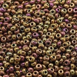 Preciosa 50 Grams Czech glass seed bead 11/0 Metallic mixed golden shades