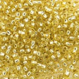 Preciosa Czech glass seed bead 11/0 Bamboo silver lined