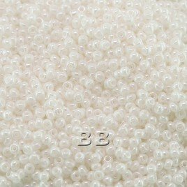 Preciosa Czech glass seed bead 15/0 White Opaque Luster