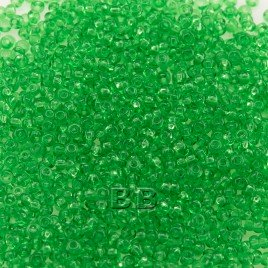 Preciosa Czech glass seed bead 15/0 Light Green Transparent glass