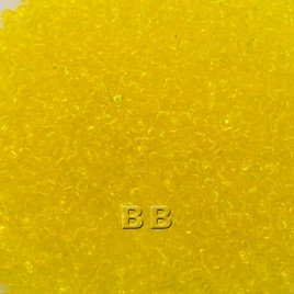 Preciosa Czech glass seed bead 15/0 Yellow Transparent glass