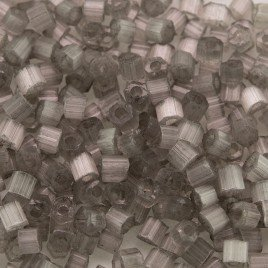 Preciosa Czech glass seed bead, 2-cut size 9/0 Soft Grey coated