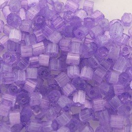 Preciosa Czech glass seed bead, 2-cut, size 9/0 Violet coated