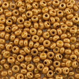 Preciosa Czech glass seed bead 9/0 Harvest Gold Colour Lustered