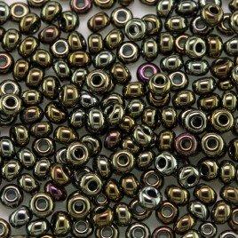 Preciosa Czech glass seed bead 9/0 Bronze Iris Metallic coated