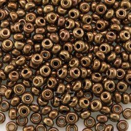 Preciosa Czech glass seed bead 9/0 Metallic Burgundy Bronze/Antique Gold