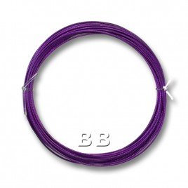 "Purple coloured, nylon coated 0.45mm/.018"" Dia.7x1 Tigertail"