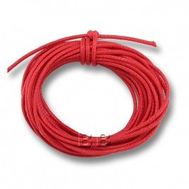 Red Polished Cotton Cord 1.00mm Dia