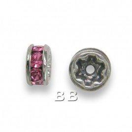 Rose 4.5mm Black Plate Czech Crystal Rhinestone Rondelles
