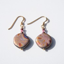 Rose Multi Fantasy Bead Earrings