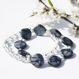 Strong Blue Fantasy Bead Bracelet Set