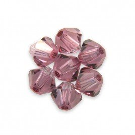 Swarovski 5328 Xilion Bead 3mm Crystal Antique Pink Bicone
