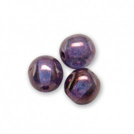 Sweet Lavender Iridescent Lustre 6mm round Czech glass druk beads