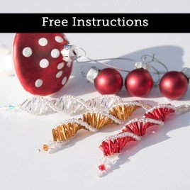 Twisticle - Glass Bead Christmas Ornament - includes FREE instructions